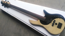 FLAME MAPLE MIX WITH ROSEWOOD body Foderaa Active 4 string fretless bass guitar(China)