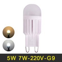 G9 LED Lamp 220V 5W 7W Mini LED G9 Bulb LED Light Ceramic High Power Crystal Chandelier Lampada LED Lights 360 Degree Lighting