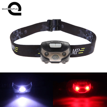 Quadruple LED Body Motion Sensor Headlamp Mini Headlight Rechargeable Outdoor Camping Flashlight Head Torch Lamp With USB(China)