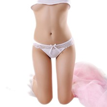 Buy Comfortable Women's Lace Transparent Breathable Seamless Panties V String Lingerie Panty Underwear Girls Thongs Knickers