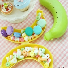 2017 Hot Creative Cute 3 Colors Fruit Banana Protector Box Holder Case Lunch Container Storage Case For Candy Food Fruit(China)