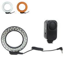Andoer 48 LEDs Macro Ring Flash Light Led Light 3200K ~ 6500K Speedlite with 2 Diffusers for Canon Nikon Pentax Cameras