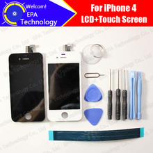 for iPhone 4 LCD Display With Touch Screen Digitizer Assembly 100% Tested LCD Screen Glass Panel Replacement for 4g+gift