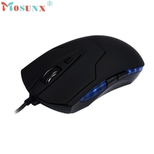Del Brand New Black 6 Key USB Wired Optical Gaming Mice Mouse For PC Laptop Best Hand Feel Jun13(China)