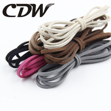 5M/lot Flat Faux Suede Korean Velvet Leather Cord DIY Rope Thread Jewelry Making Decorative Handicrafts Accessories 2.5mm