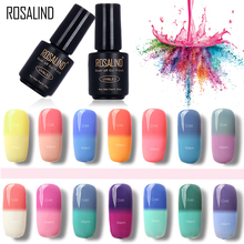 ROSALIND Black Bottle 7ML Temperature changing Chameleon T01-30 Gel Nail Polish Nail Art Nail Gel Polish UV LED Soak-Off Thermo