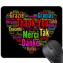 3D Fashion Gaming Mouse Mat Thank You Words Mousepad Rubber Rectangle Mouse Pad Table decoration Mats 24x20cm