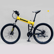 "26"" 24 Speed Aluminum Alloy Mountain Bike, Fast Folding Bicycle, MTB, Double damping, Integrated Wheel, Disc Brake(China)"