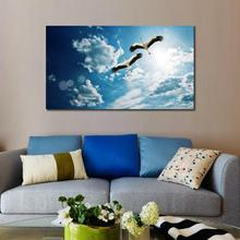 Buy Animals Birds canvas prints for living room cranes birds flying sky decoration
