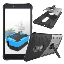 For ZTE zmax pro/Z981 Phone Case Shock proof 360 swivel bracket Phone shell Netted heat dissipation Armor Phone Case Cover