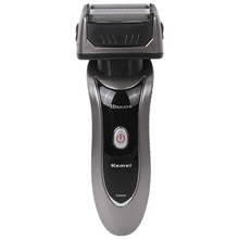 Kemei rechargeable electric shaver 3D beard shaver shaver men shaving machine trimmer barbeador face care(China)