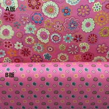 100% Cotton Fabric chic floral Printed Fabric Patchwork For Sewing Quilt Scrapbooking Tissue Pattern Needlework Material tecido(China)