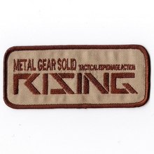 Tan Metal Gear Solid MGS FOX HOUND Special Force Group RISING Embroidered patch B2081
