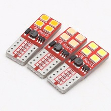 6pcs Amazing Quality Canbus T10 3020 SMD 8 LED car Light W5W T10 led 194 Error Free White Amber Purple Red Ice bule