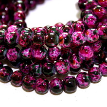 2015 New Arrival 6MM 140pcs/lot Rose Bead Round Assorted Colorful Glass Beads For Women Bracelet making Wholesale or Retail