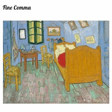 Bedroom in Arles first version by Vincent van Gogh Hand painted Oil Painting Reproduction Replica Wall Art Canvas Painting Repro(China)