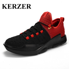 KERZER Men Basketball Shoes 2017 Breathable Gym Training Shoes Light Weight Men Basketball Sneakers Red Mens Sneakers Basketball