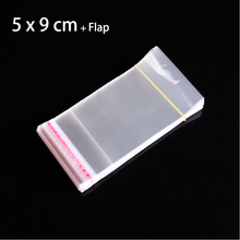 200 pcs Clear 5 x 9 cm Mini Packaging Bags for Jewelry Packing Small Plastic Envelopes Poly Bag Cello Cellophane Pouches