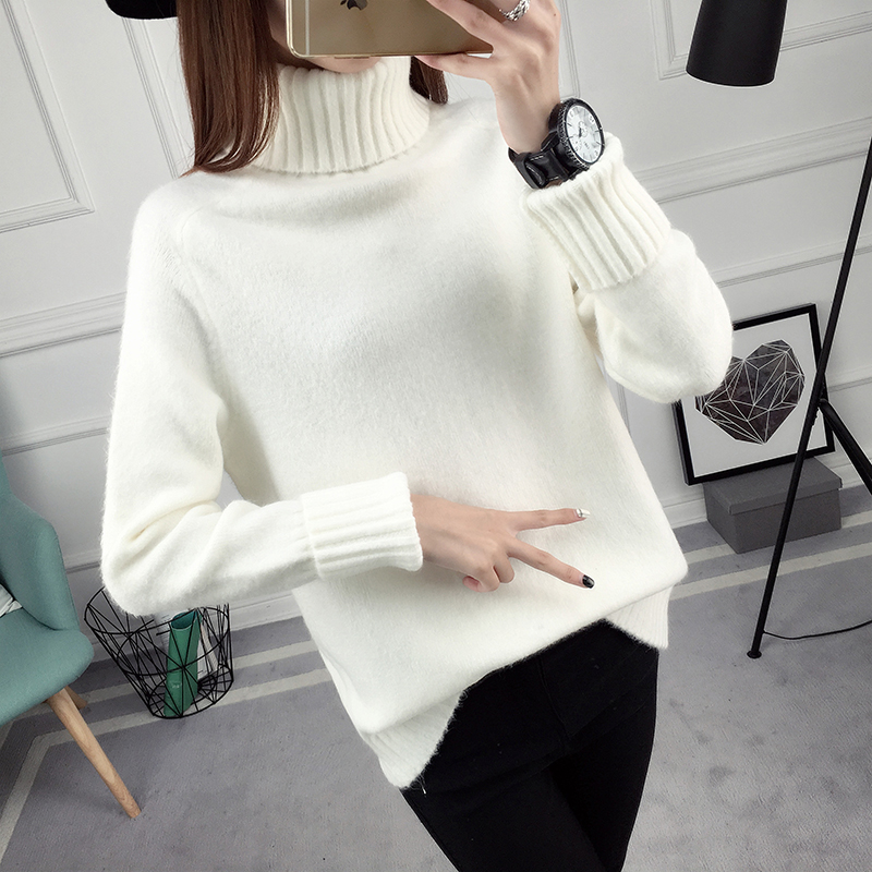 Winter Turtleneck Sweater, Women's 2017 New Design Thick Pullover 32