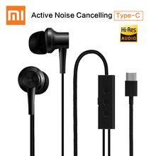 Original Xiaomi ANC Earphones Hybrid Type-C Mic Line Control Active Noise Cancelling USB-C for Xiaomi Mi6 MIX Note2 Mi5 5s Plus