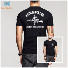 Buy New French Foreign Legion 2e Legion Etrangere Special Forces Sniper logo T-shirt Homme Camisetas Men's Swag Cotton Shirts Tees for $19.49 in AliExpress store