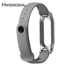 Buy HIPERDEAL New Fashion TPE Carbon Design Sport Strap Replacement Wristband Xiaomi Mi Band 2 18Jan02 Drop Ship F for $6.34 in AliExpress store