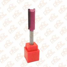 (Dia.) 1/2 Inch Double Flute Straight Bit Shank 1/4 Inch Silver & Purple Carbide Woodworking Straight Router Bit