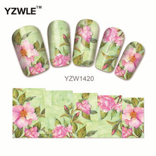YZWLE 1 Sheet Chic Flower Nail Art Water Decals Transfer Stickers Splendid Water Decals Sticker(YZW-1420)