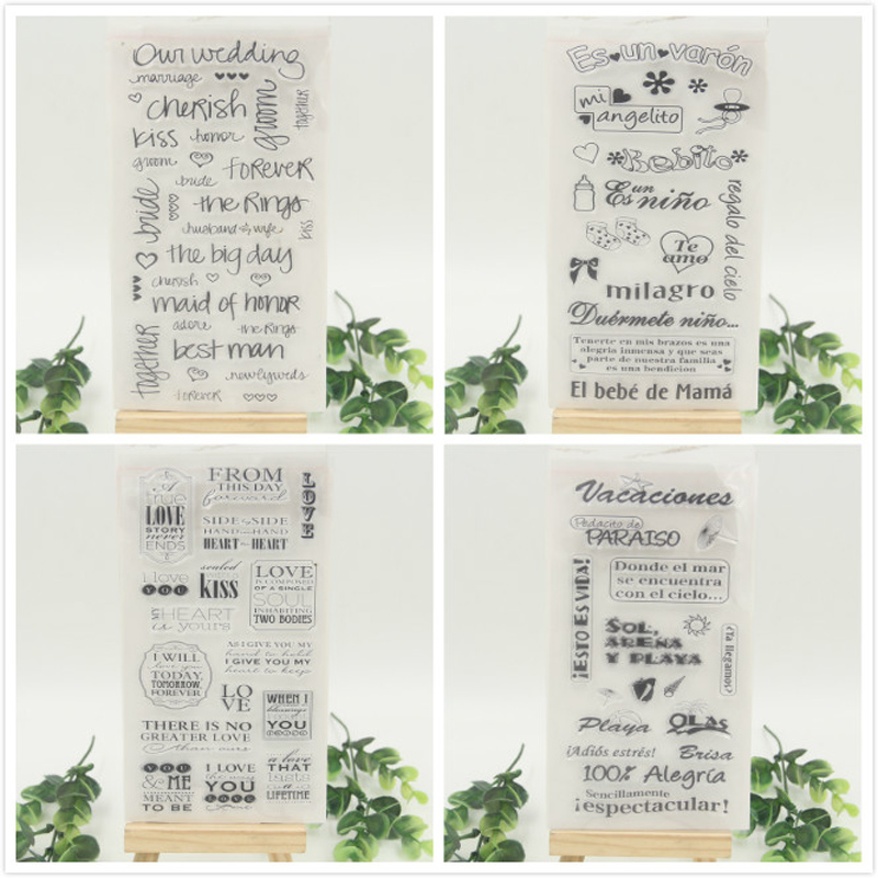1 sheet DIY On Wedding Candle Transparent Clear Rubber Stamp Seal Paper Craft Scrapbooking Decoration<br><br>Aliexpress