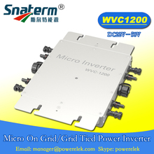 MPPT WVC 1200W 22-50VDC 110VAC 220VAC micro grid tied inverter IP67 Power line carrier-current communication grid tie converter