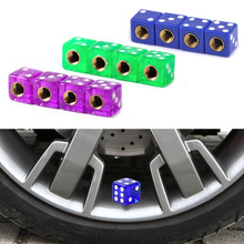 ABS cover and copper core New 4x Dice Tyre Wheel Rim Tire Air Valve Stem Dust Cap Cover Car Truck Auto Bike Motorcycle