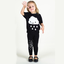 Cartoon Kids Sweater For Girl Knitted Clouds Short Sleeve Pullover Cotton Crochet Toddler Top 1-4T Autumn Sweater Girls Clothing