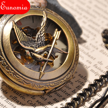 The Hunger Games Fans Watch Men's Skeleton Pocket Watch Luxury Mechanical Pocket Watch Retro Brand Fashion Hand Wind Watches