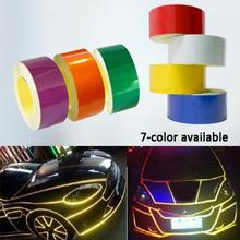7 colors 5M Car decoration Motorcycle Reflective Tape Stickers Car-Styling Automobiles Safe Material Safety Warning Decals DIY