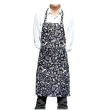 021058  Creative knife and fork apron restaurant chef antifouling wear neck hung hotel coffee shop apron