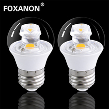 Foxanon E27 LED Lamp 120V 220V Real 5W COB Bulb E14 Guided light beam Candle Brighter than 5736 Corn Light Certified FCC CE ROHS