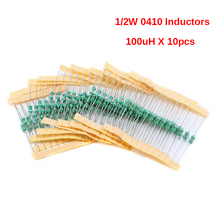 0410 color ring inductor assortment kit 0410 1/2W Inductors 100UH Inductors Assorted Set Kit 10pcs(China)
