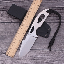 Hot VOLTRON Fixed Blade Knife Rescue Survival Camping Tactical Portable Diving Hunting Knives Outdoor Hex  Tools & K sheath gift