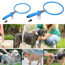 Pet Dog Puppy Bath Washer Sprayer Cleaner 360 Degree Cleaning Ring Shower Tool Kit Cachorro Puppies Cat Cleaning Accessories(China)