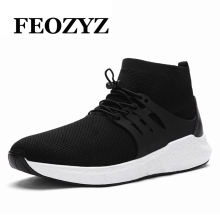FEOZYZ Brand 2017 New Running Shoes High Top Breathable Comfortable Sport Shoes Men Sneakers Zapatillas Deportivas Hombre