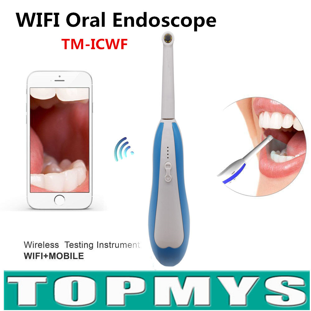 Free Ship 10pcs/lotWiFi HD Intraoral Endoscope Wireless Dental Camera LED Monitoring Inspection for Dentist Oral Real-time Video<br>