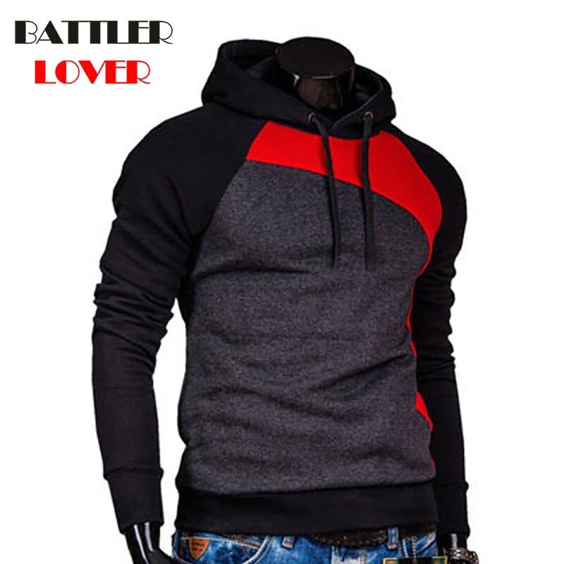 Pullovers Hoodies Men Autumn Thick Hooded Hoodies Mens Patchwork Sweatshirts Hip Hops Males Casual Brand Clothing Hoody Jacket