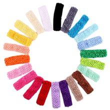 10pcs children hair band Cloth kids Crochet Headbands HairBand care accessories girl Headwear Flower Wrap Hair Clips