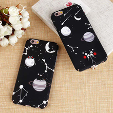 ToGoat Fashion Starry sky Bear Case For iphone 7 Cute Cartoon Animal Moon Night Hard PC phone Cases For iPhone 7 6 6S Plus Cover