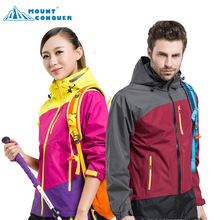 man jackets women jacket hiking Outdoor jaqueta Camping sports coat fishing tourism mountain jackets waterproof Windproof(China)