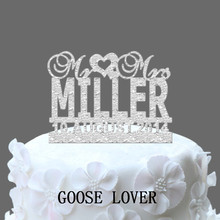 Custom Last Name With Event Date Personalize Wedding Cake Topper, Unique  Monogram Cake Topper, Mr And Mrs
