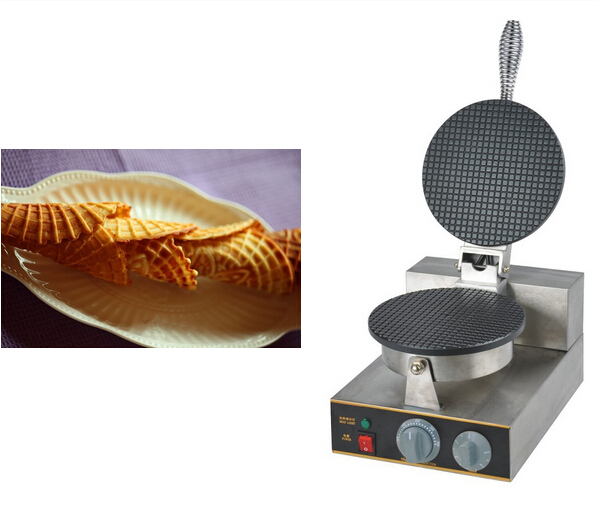 220V Electric Non-stick Single Head ice cream waffle cone baker//waffle  maker Ice Cream Cone Maker /CONE SHAPE WAFFLE BAKER/<br><br>Aliexpress
