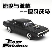 1970 Dodge Chargers R/T Fast & Furious Car model 1:32 Kids Toy Diecast pull back light sound Mustang Challenger sports car gift