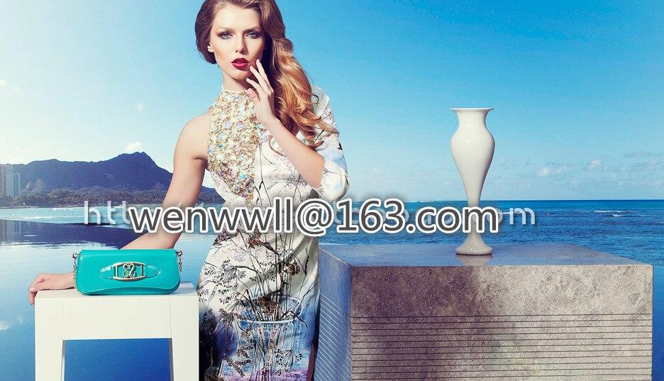 Дизайнер 93% шелк 7% спандекс стрейч атласа брюки белый и коричневый ткань одежды 1.2 метр T303(China)