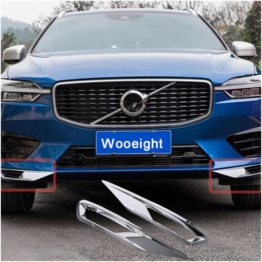 For volvo xc60 2018 2019 2pcs abs chrome plated front bumper fog lamp fog light cover